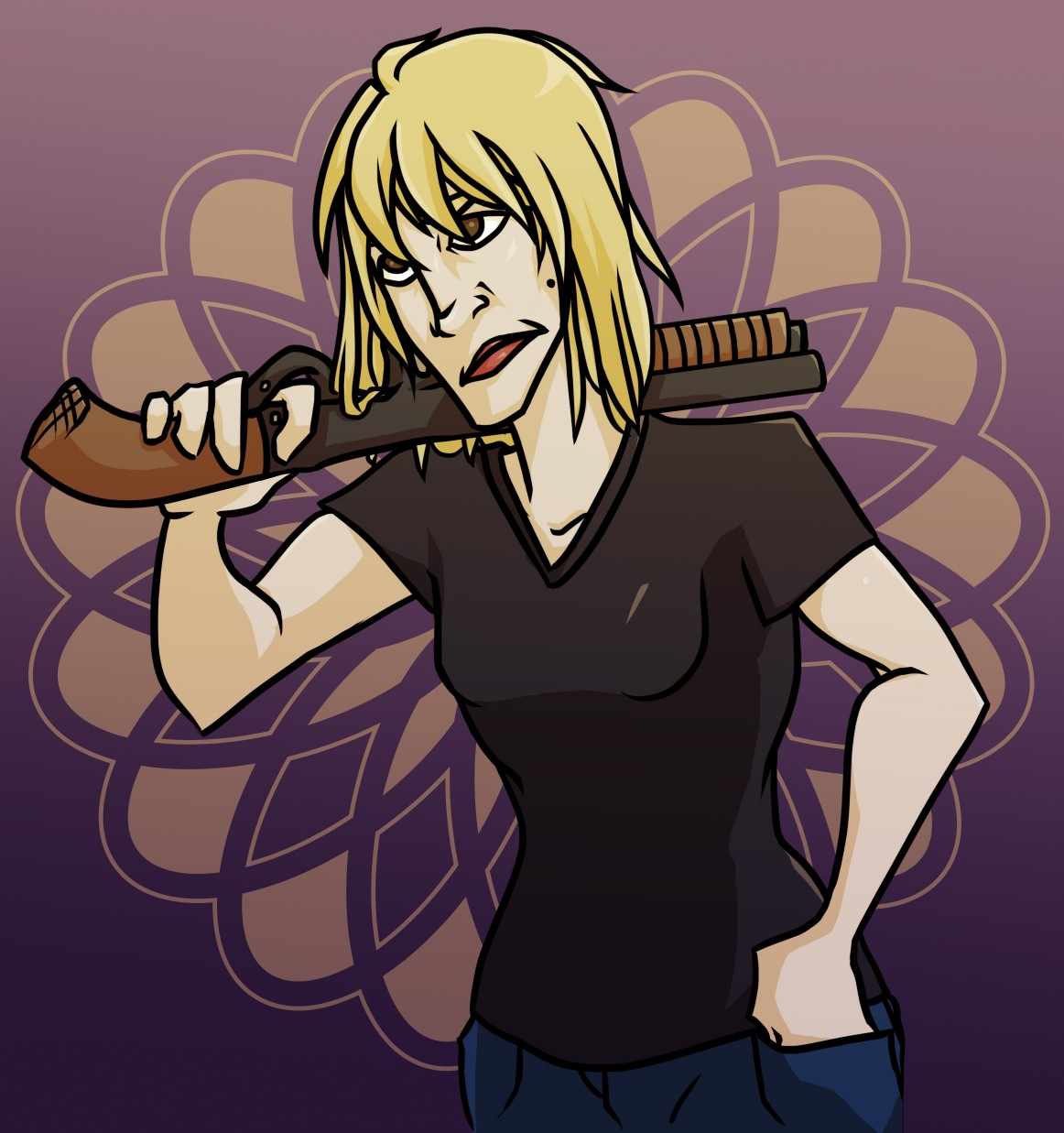 Lady with a Shotgun